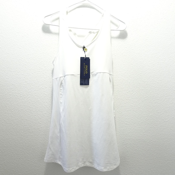 Ralph Us Lauren M White Polo Tennis Dress Nwt Open 45AjLqRc3